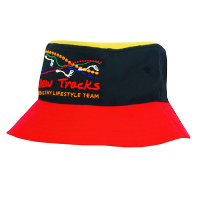 Poly Twill Multi Coloured Bucket Hat 4220_HDW