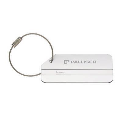 Brushed Aluminium Luggage Tag (D208_PB)