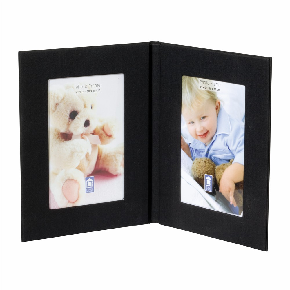 Fabric Twin Photo Frame (D304_PB)