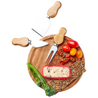 Cawdor Mini Cheese Board & Knife Set - (printed with 1 colour(s))