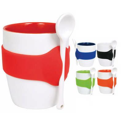Geko Coffee Mug with Spoon (D791_PB)