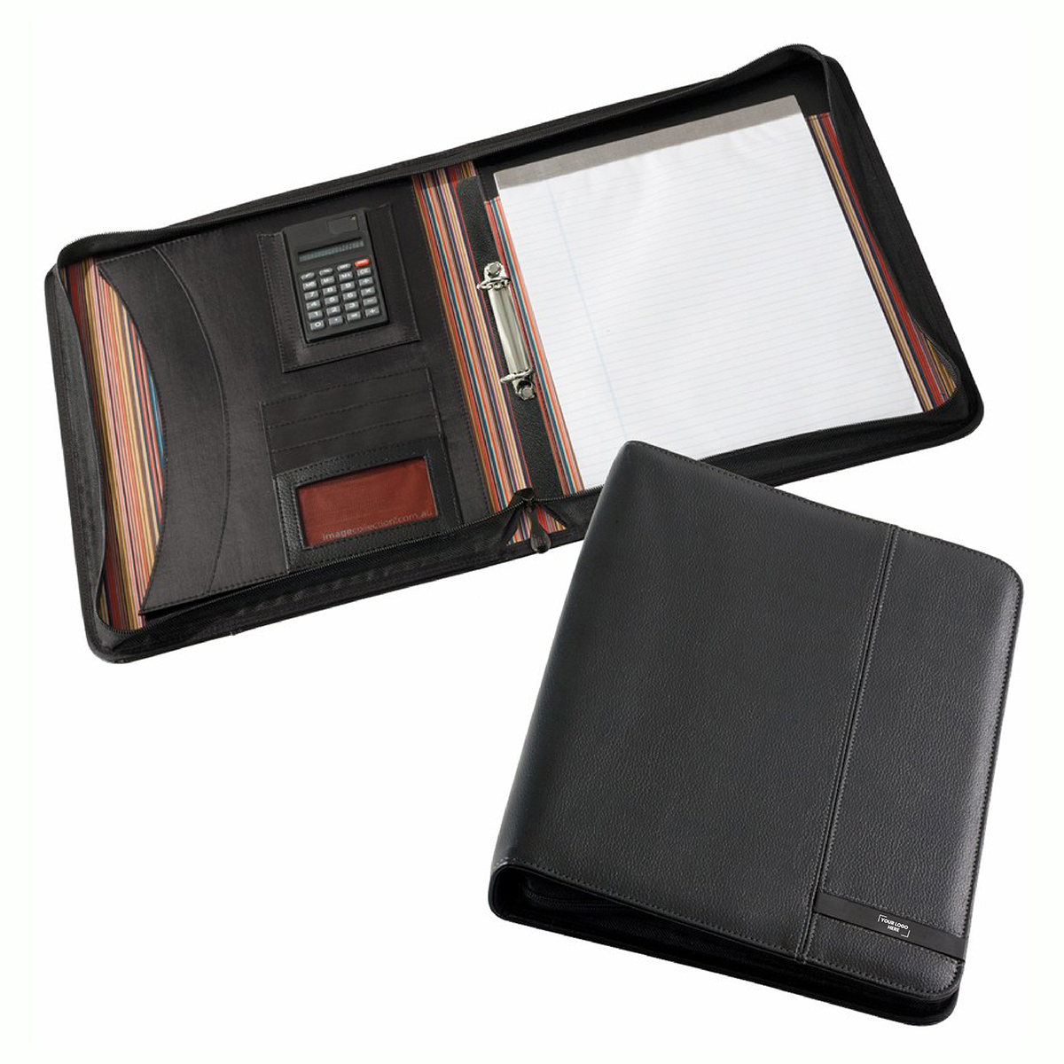 Madrid A4 Zippered Compendium with Calculator (D995_PB)