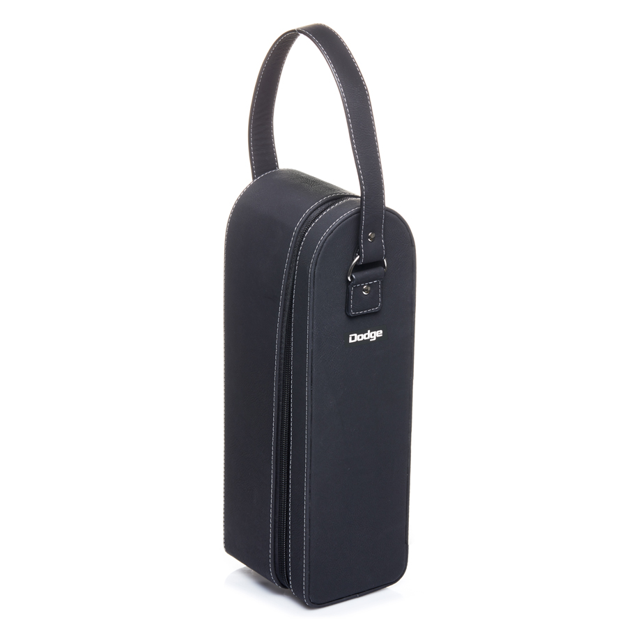 Sueded Leatherette Single Bottle Wine Case (EX228_PB)