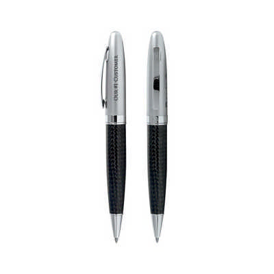 Carbon Fibre Twist Pen (G1709_PB)