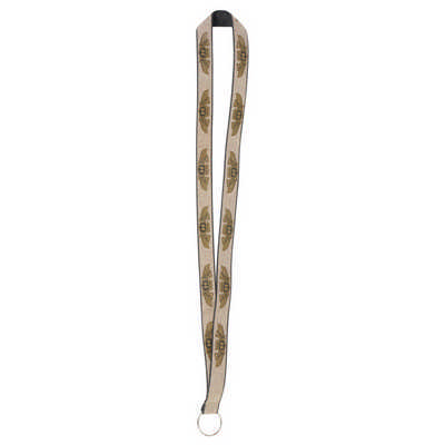 Glitter Lanyards - 19mm Wide Gold Glitter (L105.Gold_PB)
