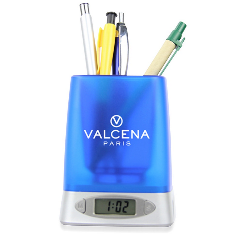 Ace Pen Holder With Time And Alarm - (printed with 1 colour(s)) OC34X122_OC