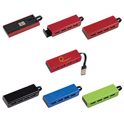 4-Port Traveler Usb Hub With Phone Stand - (printed with 1 colour(s)) OH2642_OC