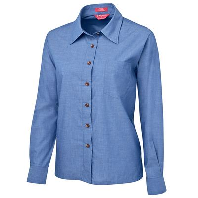 JB`s Ladies Original L/S Indigo Chambray Shirt