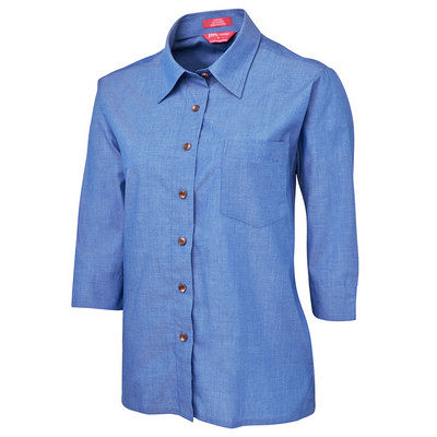 JB`s Ladies Original 3/4 Indigo Chambray Shirt
