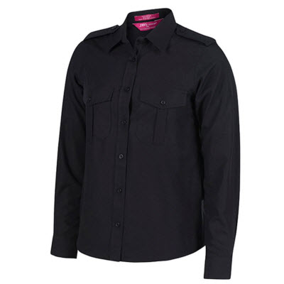 JB`s Ladies L/S Epaulette Shirt