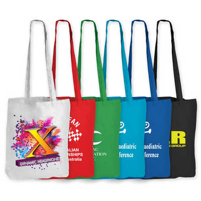 Coloured Cotton Long Handle Bag (LL510_LL)
