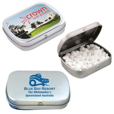 Sugar Free Breath Mints in Silver Tin (LL804_LL)