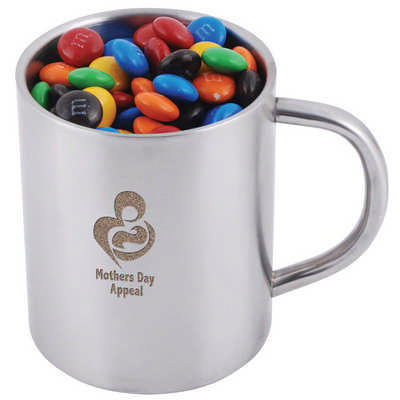 M&M`s in Double Wall Stainless Steel Barrel Mug (LL8621_LL)