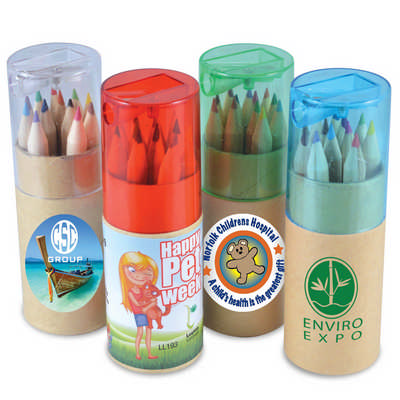 Coloured Pencils in Cardboard Tube - (Includes Decoration) LL193_LNZ