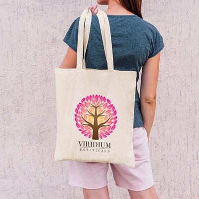 Urban Shopper Folding Calico Bag (LH) (LL529_LLNZ)