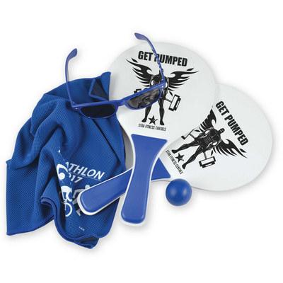 Summer Beach Kit 1 - Bat & Ball Set, Chill Cooling Towel, Horizon Sunglasses