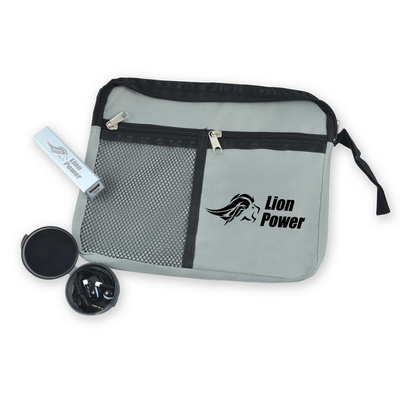 Holiday Tech Kit - Malibu Pouch, Velocity Power Bank, Earbuds - (Includes Decoration) LL6003_LLNZ