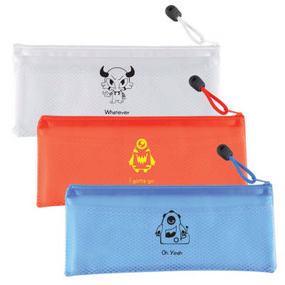 PVC Pencil Case/Organiser with Zipper and
