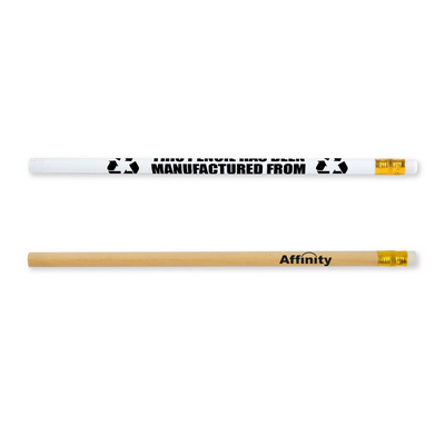 Rubber Tipped Newspaper Unsharpened Pencil - (Includes Decoration) LL77_LNZ