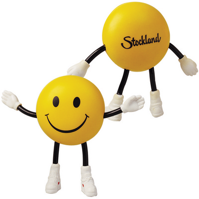 Smile Guy with Bendy Arms & Legs Stress Reliever (LL800_LLNZ)