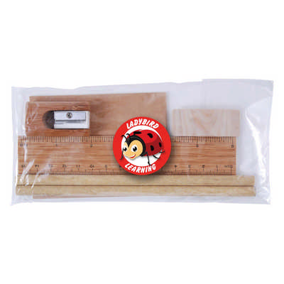 Bamboo Stationery Set in Cello Bag (LL2134_LLPRINT)