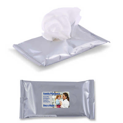 Anti Bacterial Wet Wipes in Pouch (LL3027_LLPRINT)