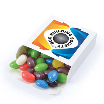 Assorted Colour Jelly Beans in 50 gram Box  - Includes Decoration LL31474_LLPRINT