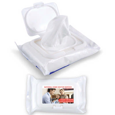 Anti Bacterial Wipes in Pouch (LL4659_LLPRINT)