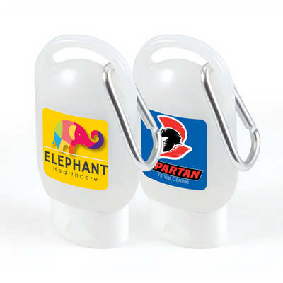 30ml Liquid Hand Sanitiser with Carabiner (LL4673_LLPRINT)
