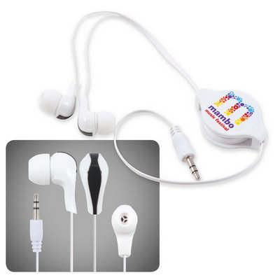 Zen Retractable Earbuds / Headphones (LL6151_LLPRINT)