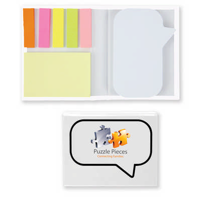Speech Bubble Notepad with Flags (LL8132_LLPRINT)