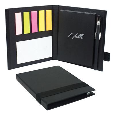 Deluxe Sticky Notebook - Black (B818_MXM)