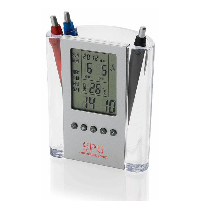 Alarm Clock + Pen Holder