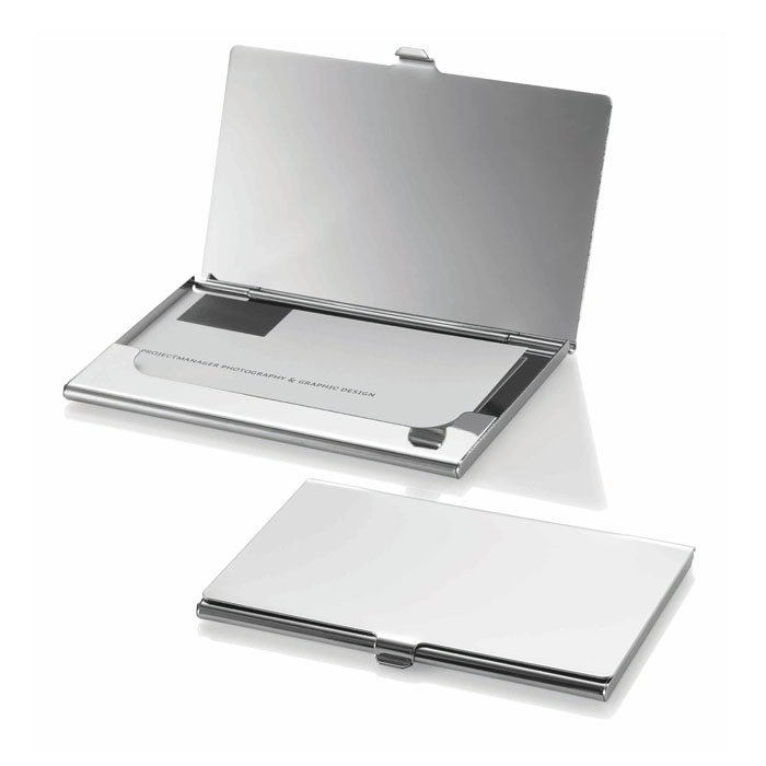 Chrome Business Card Holder