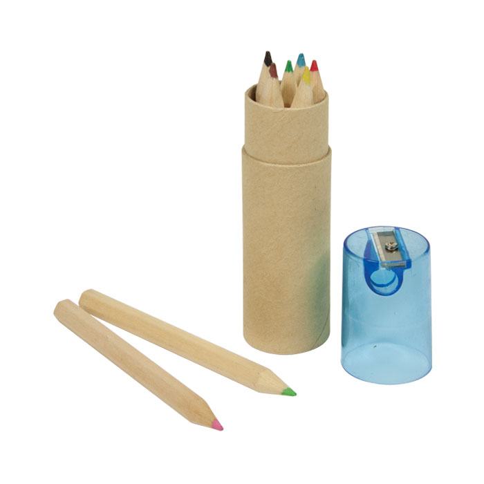 6Pc Colour Pencil Set - Blue Lid - Spectrum