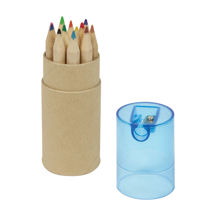 12Pc Colour Pencil Set - Blue Lid - Spectrum