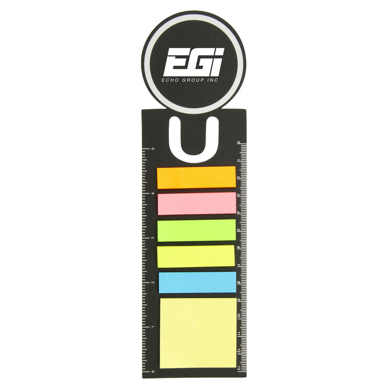 Bookmark Ruler With Sticky Notes (BM100_MXM)