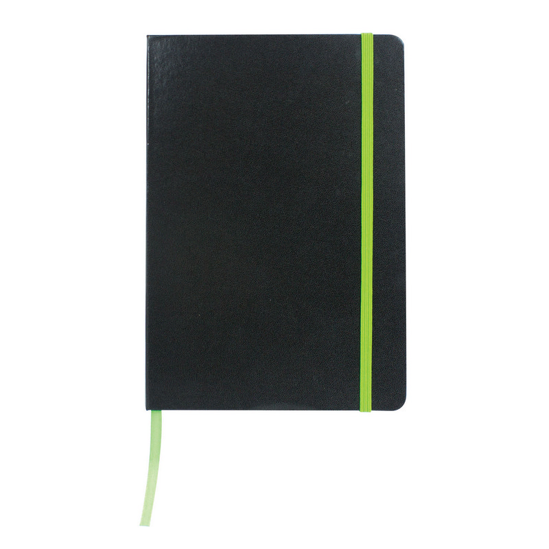 Excel A5 Coloured Edge Notebook - Green (C1215G_MXM)