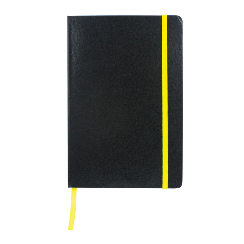 Excel A5 Coloured Edge Notebook - Yellow (C1215Y_MXM)