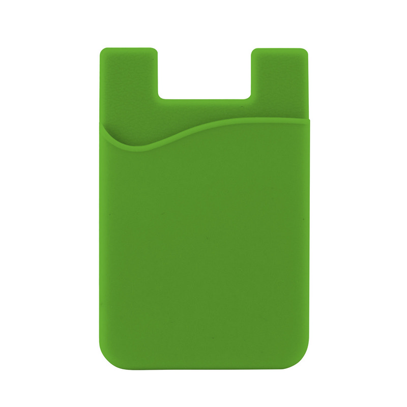 Silicone Phone Card Holder - Lime (C607L_MXM)