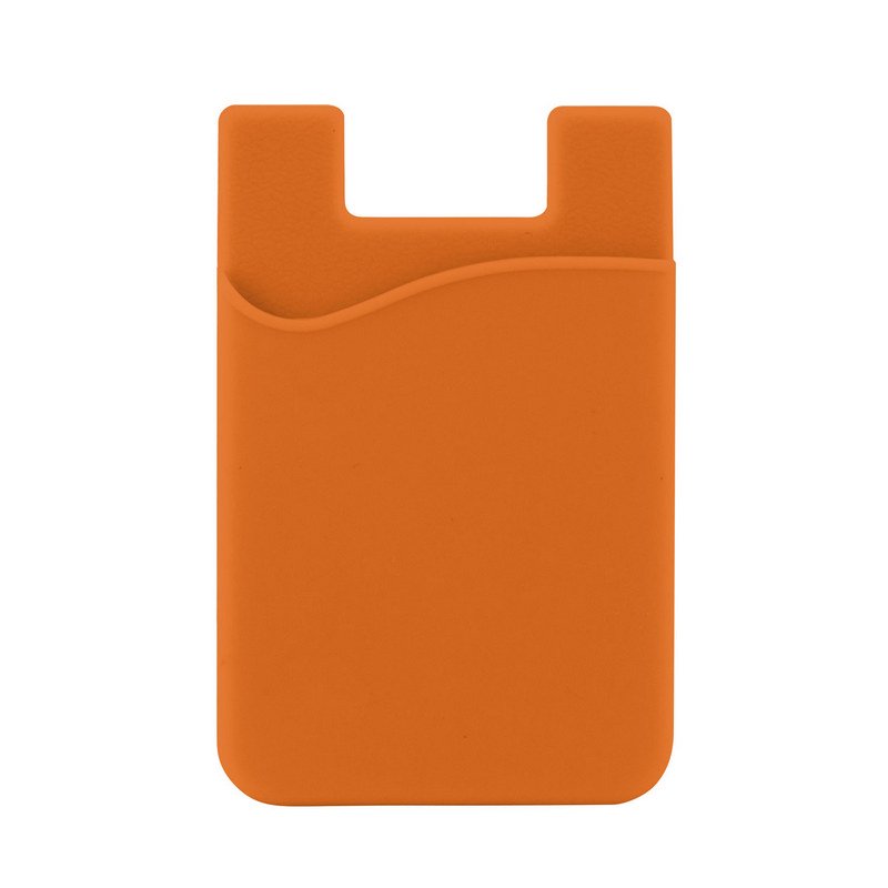 Silicone Phone Card Holder - Orange (C607O_MXM)