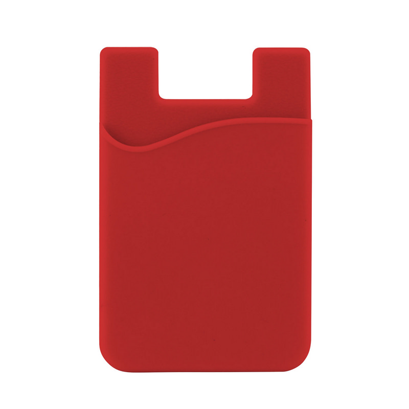 Silicone Phone Card Holder - Red (C607R_MXM)