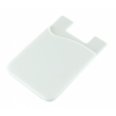 Silicone Phone Card Holder - White