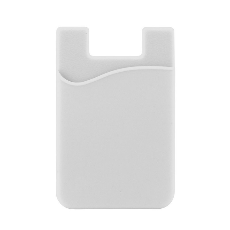 Silicone Phone Card Holder - White (C607W_MXM)