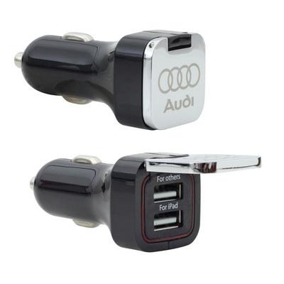 Flip Top Dual USB Car Charger (C620_MXM)