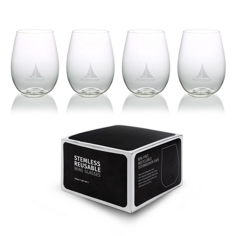 Plastic Stemless Glasses - Set Of 4 (CA2006_MXM)