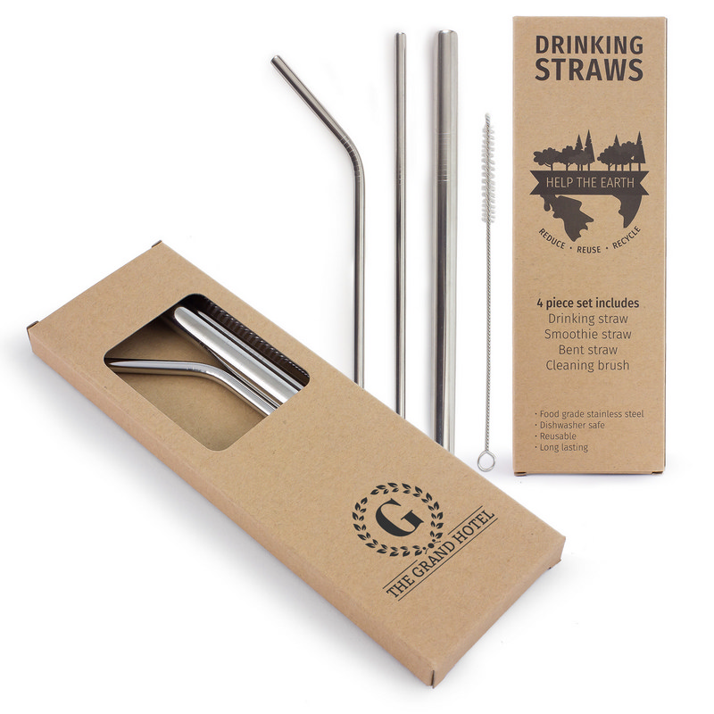 4 Piece Stainless Steel Straw Set (CA2007_MXM)