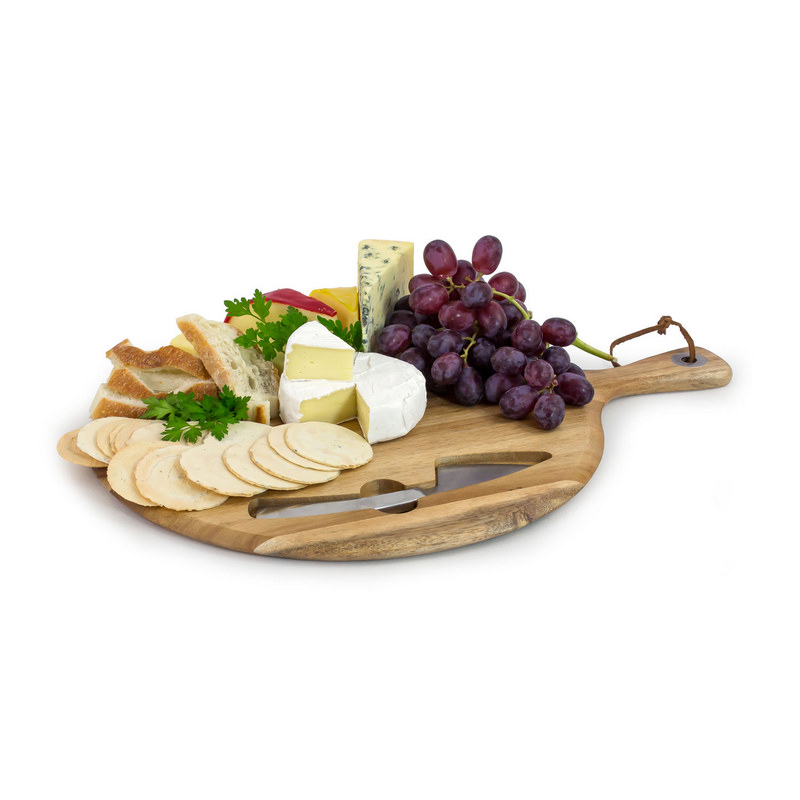 Brie Cheese Board And Knife Set (CA2032_MXM)