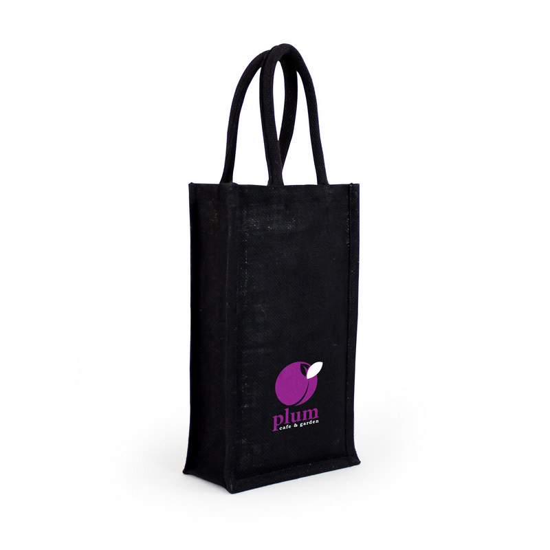 Jute Wine Bag - Double (CA3600_MXM)