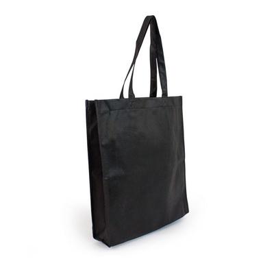 Non Woven Shopper - Black (S1018B_MXM)